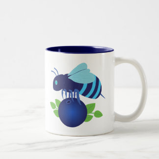 Blueberry Bee Two-Tone Coffee Mug