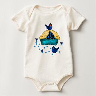 Blueberry Birds Baby T Baby Bodysuit