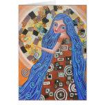 Blueberry Blonde Goddess Blank Card