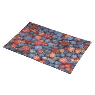 Blueberry Blue Colorful Fruit Food Sweet Destiny Cloth Placemat