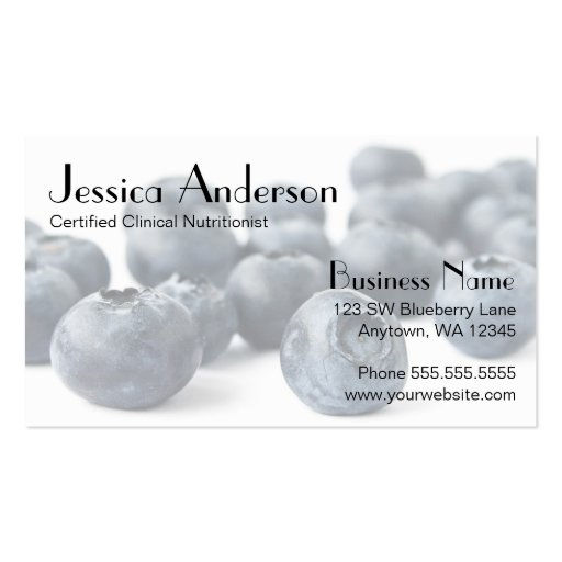 Blueberry Bunch Business Card Templates