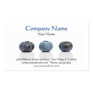 Blueberry Business Card