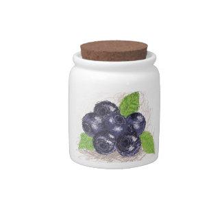 blueberry candy jars