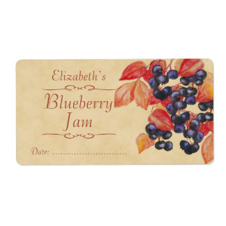 Blueberry Canning label