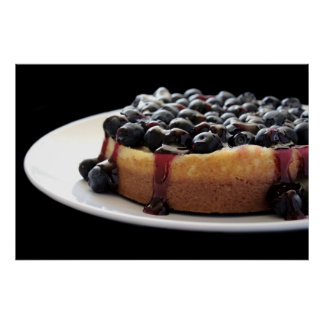 blueberry cheesecake poster
