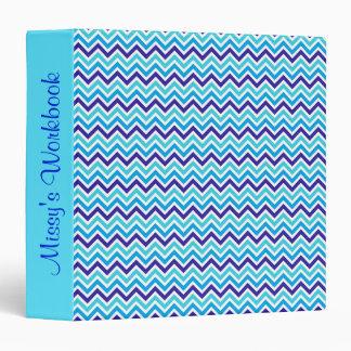 Blueberry Chevron Pattern Zig Zag workbook binder
