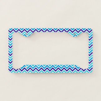 Blueberry Chevron Stripes Zig Zag License Plate License Plate Frame