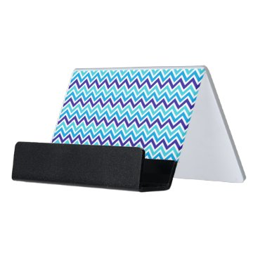 Professional Business Blueberry Chevron Zig Zag business card holder