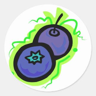 Blueberry Classic Round Sticker