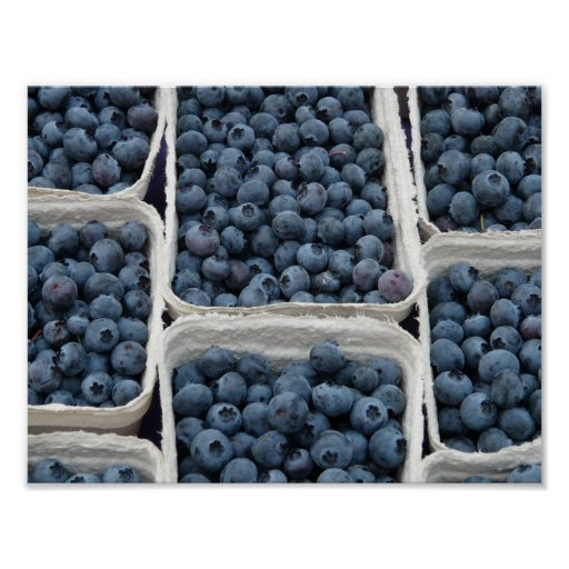 Blueberry Crates Poster
