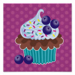 Blueberry Cupcake Canvas Print