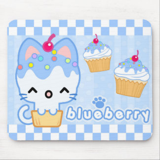 Blueberry Cupcake Kitty Mousepad