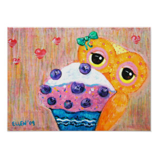 Blueberry Cupcake Love Poster