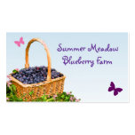 Blueberry Farm Double-Sided Standard Business Cards (Pack Of 100)
