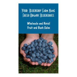 Blueberry Farm or Sales Business Cards