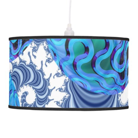 Blueberry Flutes, Abstract Periwinkle Blue Spiral Ceiling Lamp