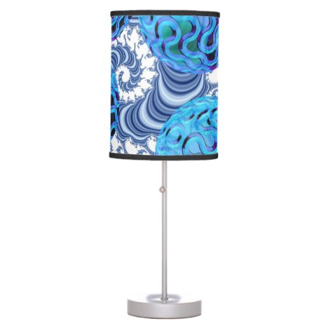 Blueberry Flutes, Abstract Periwinkle Blue Spiral Table Lamp