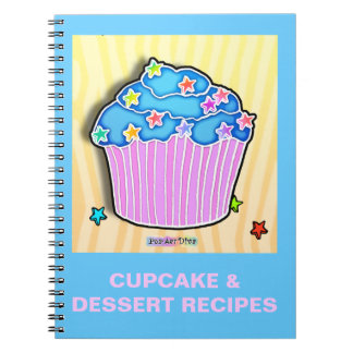 Blueberry Frosted Cupcake Recipe Notebook