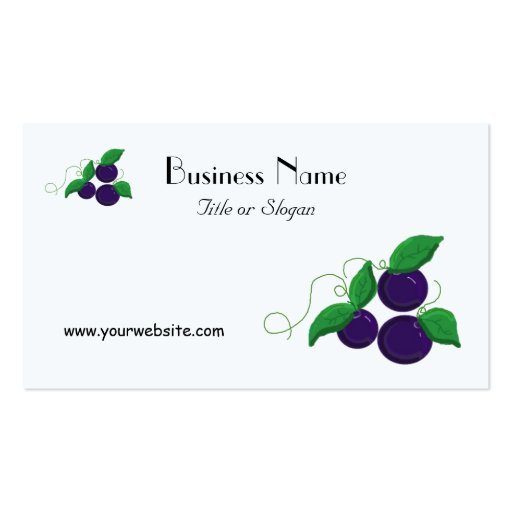 Blueberry Fruit Double-Sided Standard Business Cards (Pack Of 100)