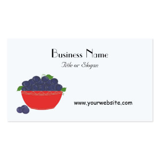 Blueberry Fruit Design Business Card