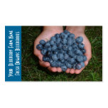 Blueberry  Fruit Growers Double-Sided Standard Business Cards (Pack Of 100)
