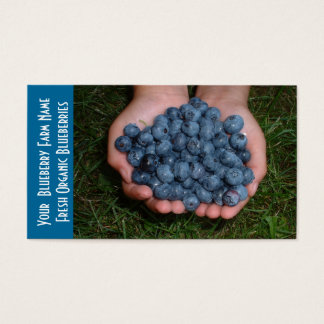 Blueberry  Fruit Growers Business Card