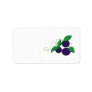 Blueberry Fruit Address Label
