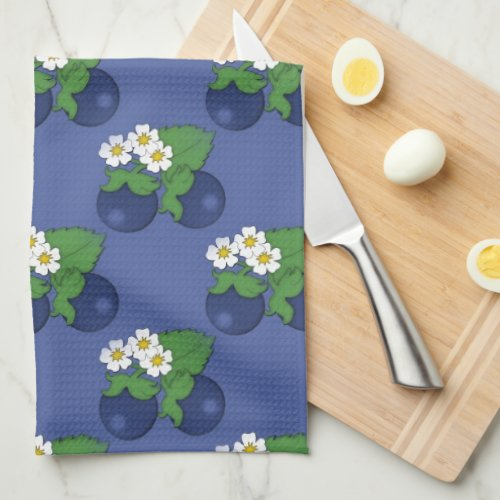 Blueberry Fruit Pattern Kitchen Towel
