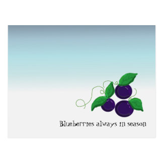 Blueberry Fruit Post Card