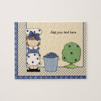 Blueberry Girl Jigsaw Puzzle