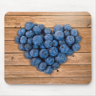 Blueberry Heart Mouse Pad