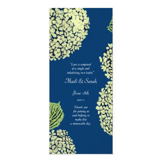 Blueberry Hydrangea Wedding Program