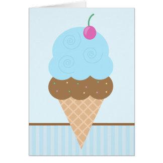 Blueberry Ice Cream Cone Card
