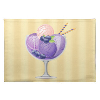 Blueberry Ice Cream Placemat