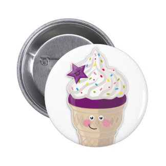 blueberry icecream buttom pinback button