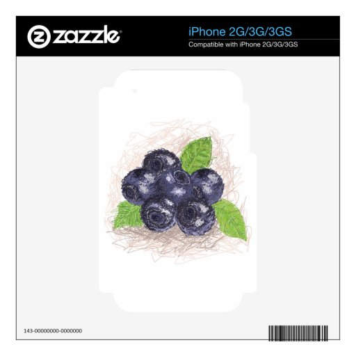blueberry iPhone 3GS decals
