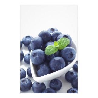 Blueberry isolated ON white Stationery