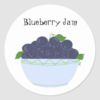 Blueberry Jam Classic Round Sticker