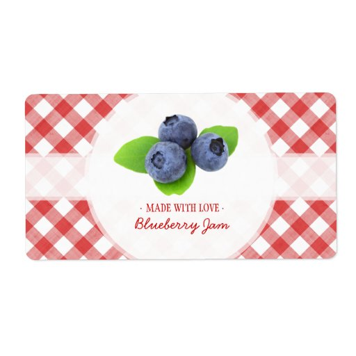 Blueberry Jam label Shipping Label