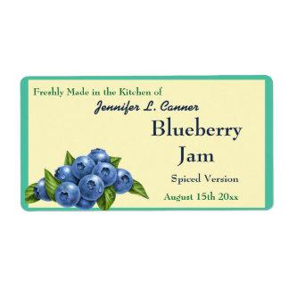 Blueberry Jam or Preserves Fruit Canning Jar Label