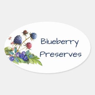 Blueberry Jam Preserves Canning Label