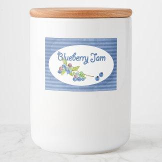 Blueberry Jam Preserves Food Label