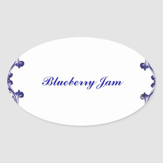 Blueberry jam preserves label and sticker template