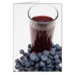 Blueberry juice greeting cards