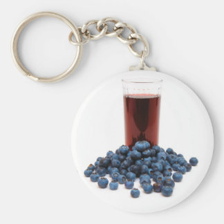 Blueberry juice key chains