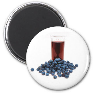 Blueberry juice magnet
