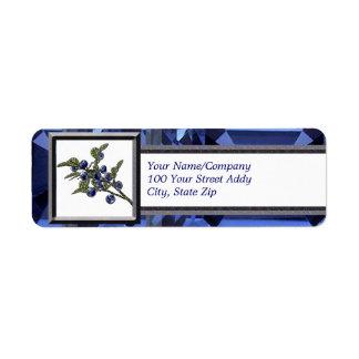 Blueberry Custom Return Address Label
