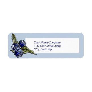 Blueberry Return Address Label