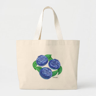 blueberry large tote bag