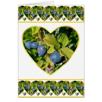 Blueberry Love Valentine Card